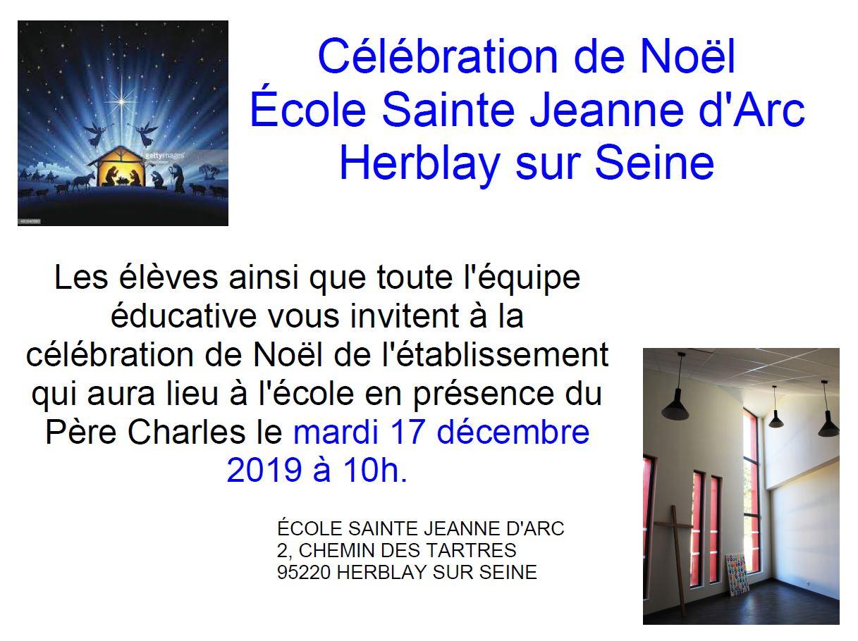 Célébration de Noël école Jeanne d'Arc