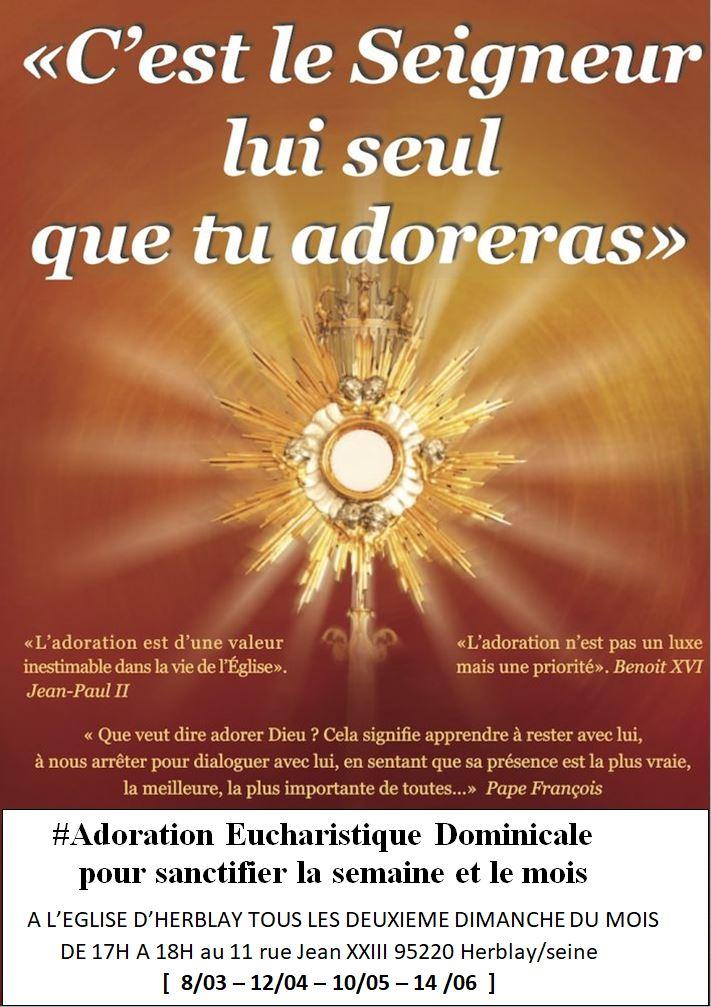 Adoration Eucharistique Dominicale @ Église Saint-Martin