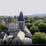 L'église Saint Martin d'Herblay sur Seine, vue du Ciel.