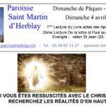 Feuille de Messe – 04-04-2021 Dimanche de Pâques