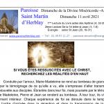 Feuille de messe – Dimanche de la Divine Miséricorde – Année B