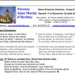 Feuille de messe – 16ème Dimanche Ordinaire – Année B
